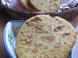Urad dal puris/Split white lentils flat bread
