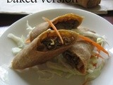 Vermicelli and Vegetable baked Spring Roll