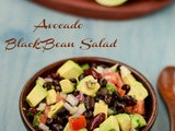Avocado Black Bean Salad Recipe | Avocado Bean Salad Recipe | Avocado Bean Salad With Lime Vinaigrette