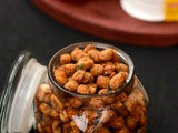 Baked Masala Peanuts Recipe | Masala Peanuts Recipe In Oven | Roasted Masala Peanuts In Toaster Oven | Masala Peanuts-Easy Tea Time Snack