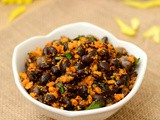 Black Beans Sundal | Varuthuaracha Sundal | Beans Sundal Using Roasted Spices | Masala Beans Paruppu Sundal Recipe - Navaratri Sundal Recipes