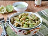 Broccoli Pesto Pasta / Creamy Broccoli Pesto Pasta / Whole Grain Penne Pasta With Broccoli Pesto