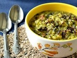 Broccoli Spinach Kootu / Broccoli Spinach Lentil Curry