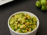 Brussel Sprouts Poriyal | Brussel Sprouts Stir Fry With Moongdal | Indian Brussel Sprouts Recipe