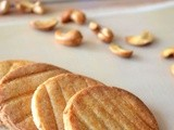 Butter Cashew Biscuits / Cookies - My Guest Post @ Good Food