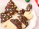 Chocolate Dipped Shortbread Cookies Recipe | Easy Christmas Cookies Recipe