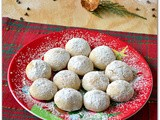 Chocolate Snowballs / Eggless Snowball Cookies - Easy Christmas Cookies