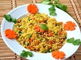 Cumin Flavored Peas Rice ~ Lunch Box Special