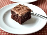 Devil's Food Cake / Devil's Food Cake With Chocolate Whipping Cream Frosting - My 500th Post