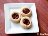 Eggless Thumbprint Cookies / Jam Cookies - Guest post By Sobha