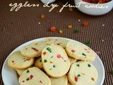 Eggless Tutti Frutti Cookies / Candied Fruit Cookies - Christmas Cookies Recipe