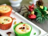 Eggless Tutti Frutti Muffins Recipe | Easy Christmas Fruit Cake | Eggless Dry Fruit & Nuts Muffins