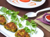 Hara Bara Kabab / Spinach Peas Potato Patties