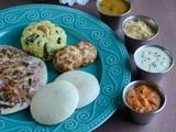 Healthy Breakfast Thali / South Indian Breakfast Thali ~ Virtual Birthday Treat for Manjula