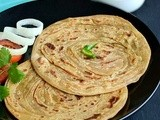 Lachha Paratha / Whole Wheat Lachha Paratha / Mulit Layered Paratha - Its Easy & Vegan too