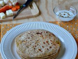 Mix Veg Paratha / Mixed Vegetable Paneer Paratha / Mixed Veg Stuffed Paratha - Kids Lunch Box Recipe