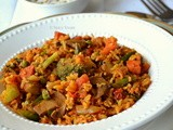Mixed Veg Brown Rice Tawa Pulao