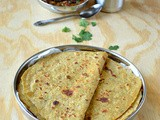 Moongdal Aloo Paratha / Dal Potato Paratha / Mashed Potato Lentil Paratha