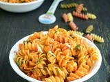 Paneer Pasta / Curried Paneer Pasta / Indian Style Cheese Pasta