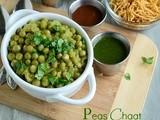 Peas Chaat / Peas Masala Chaat Recipe / Green Peas Masala Chaat ~ Healthy & Refreshing Snack