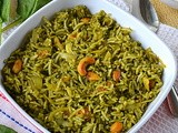 Quick Palak Rice / Spinach Rice