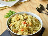 Soya Chunks Pulao / Soya Chunks Pulao Using Yogurt(Curd) - Easy & Quick Lunch Box Recipe