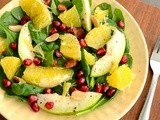 Spinach Orange Salad Recipe | Spinach Salad With Orange and Pomegranate