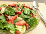 Strawberry Spinach Salad Recipe | Strawberry Spinach Salad With Poppy seed Vinaigrette