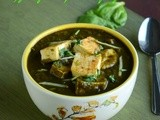 Tofu Palak / Spinach Tofu / Crispy Tofu In Spinach Gravy ~ Healthy Vegan Curry
