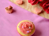 Valentine Cupcakes / Hidden Heart Cupcakes - My Guest Post for Nalini's Kitchen