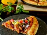 Vegetarian Mexican Pizza / Mexican Pizza Recipe / Homemade Mexican Black Bean Pizza
