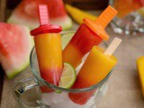 Watermleon Mango Popsicle | Melon Mango Popsicle Recipe | Easy Summer Popsicle Recipes