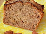 Whole Wheat Banana Loaf / Eggless Whole Wheat Banana Bread