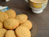 Whole Wheat Coconut Cookies | Eggless Wheat Coconut Cookies | Eggless Whole Wheat Cookies Recipe