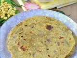 Whole Wheat Corn Adai n Carrot Raitha