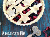 American Pie with Blueberries, Raspberries, Stars and Stripes
