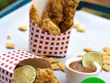 Corn™Chex Crusted Chicken Strips with Honey Lime Peanut Sauce