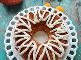 Cream Cheese Filled Low Carb Pumpkin Bundt Cake, Gluten Free