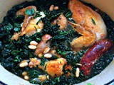 Easy One Pot Chicken Recipe with Sausage, Kale and White Beans