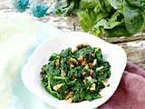 Garlicky Spinach with Walnuts