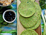 Grain Free Keto Spinach Tortillas Recipe