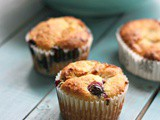 Keto Blueberry Muffins with Fresh Blueberries