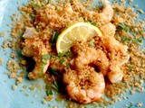Keto Shrimp Scampi with Pork Panko, Lemon, Almonds