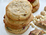 Keto White Chocolate Raspberry Cookies, Grain Free