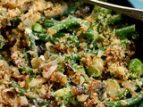 Low Carb Green Beans Casserole with Brussels Sprouts and Bacon