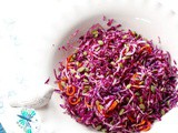 Red Cabbage Salad Recipe with Shallot Vinaigrette