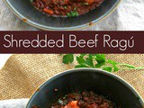 Slow Cooker Shredded Beef Ragú or What to do with Cheap Beef Cubes