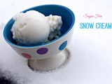 Snow Cream, with a Sugar Free Option