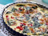 Spicy Shrimp Quiche with Smoked Bacon, Pistou and Gluten Free Option