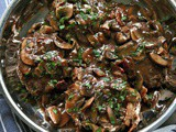 Steak Mushroom Sauce with Wine and Bacon